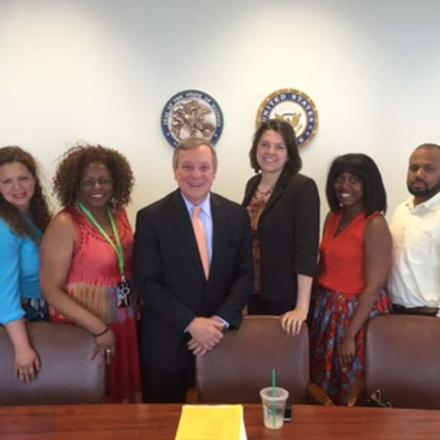 E4E-Chicago teachers meet with Sen. Dick Durbin